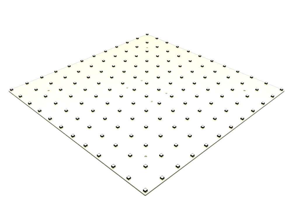 white and solid LED video module TILE25®